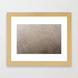 Clay Sandstone Framed Art Print