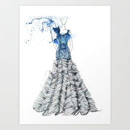 Blue Caos Art Print