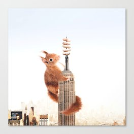 Squirrel-zilla Canvas Print