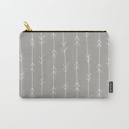 Grey, Fog: Arrows Pattern Carry-All Pouch