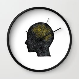Clever brain Wall Clock