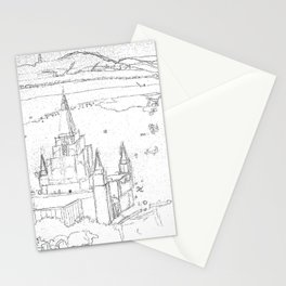 Oakland California LDS Temple Sketch Stationery Cards
