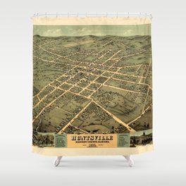 Map Of Huntsville 1871 Shower Curtain