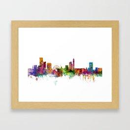 Birmingham England Skyline Cityscape Framed Art Print