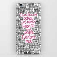 cities iPhone & iPod Skins featuring Cities by Raphaella Martelino