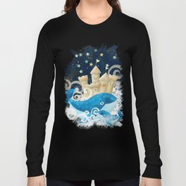 Sandcastle Waves Whales Long Sleeve T-shirt