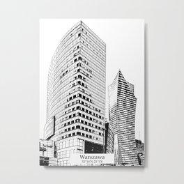 Warszawa minimal city #warsaw #warszawa Metal Print