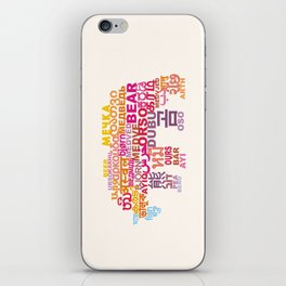 Bear in Different Languages iPhone Skin