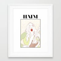 haim Framed Art Prints featuring Este Haim by chazstity