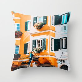 Just a Trim | Kitzbuhel, Austria Throw Pillow