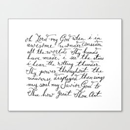 How Great Thou Art. Canvas Print