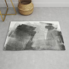Black and Grey Concrete Texture Urban Minimalist Rug