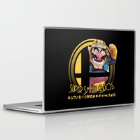 smash bros Laptop & iPad Skins featuring Wario - Super Smash Bros. by Donkey Inferno