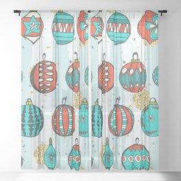 Bright MidCentury Christmas 1.0 Sheer Curtain