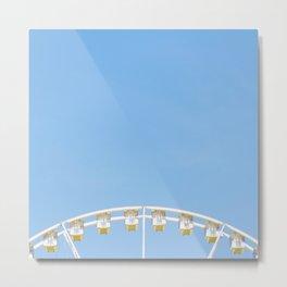 Paris Ferris Wheel Metal Print