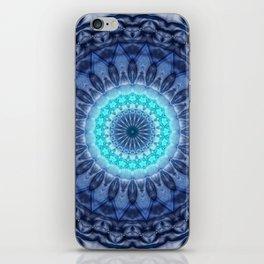Mandala Iceblue 3 iPhone Skin