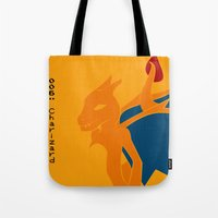 charizard Tote Bags featuring 006 Charizard by AuroraDrops