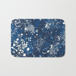 Blue Splatter Pattern Bath Mat