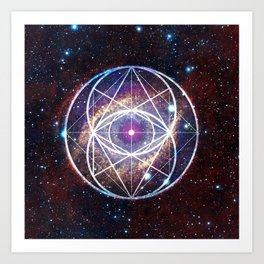 Helix Nebula // Vesica Piscis Art Print