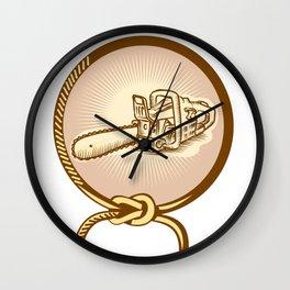 Chainsaw Lasso Rope Retro Wall Clock
