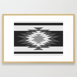 Aztec - black and white Framed Art Print
