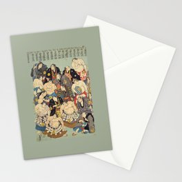 Sumo Wrestler All Stars. Sumo Wrestling. Art Print Stationery Cards