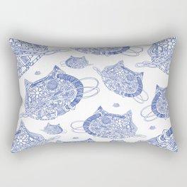 MechaniCat - small blue print Rectangular Pillow