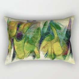 Abstract fall colors Rectangular Pillow