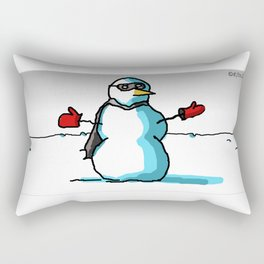 The Snowman Avenger Rectangular Pillow