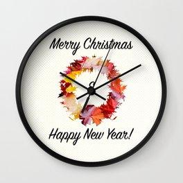 MERRY & NEW Wall Clock