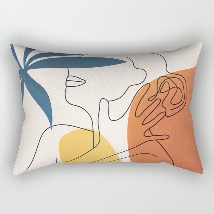 Minimal Movement I Rectangular Pillow