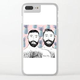 Beard Boys: Manu & Dani Clear iPhone Case