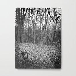 Sitting in Solitude Metal Print
