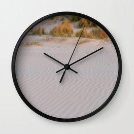 Sand waves at Terschelling    Travel Photography    Pastel color Fine art coastal sea island beach Wall Clock