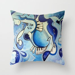 Reves Bleus (blue dreams) Throw Pillow