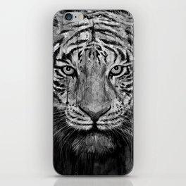 Tiger Black & White iPhone Skin
