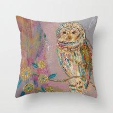 Jeweled Owl Throw Pillow
