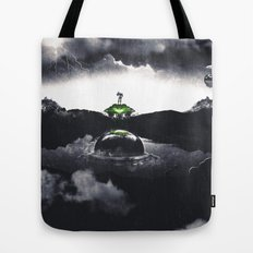 The Landing A Zebes Surrealism Tote Bag