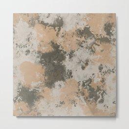 Abstract Mud Puddle Metal Print
