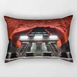 Solna Centrum Metro Station in Stockholm, Sweden IV Rectangular Pillow