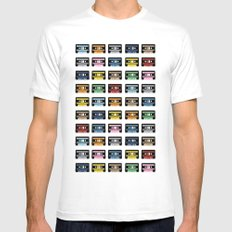 80 Rainbow Tapes Mens Fitted Tee White MEDIUM
