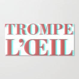 Trompe L'oeil / Trump Lied Canvas Print