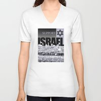israel V-neck T-shirts featuring Support Israel by politics
