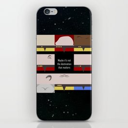 Maybe it's not the Destination that matters - square - Star Trek: Voyager VOY  trektangle minimalist iPhone Skin