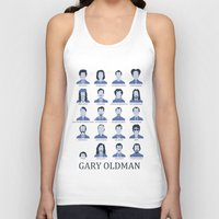 actor Tank Tops featuring Gary Oldman by Derek Eads