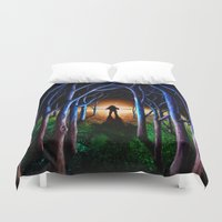 oasis Duvet Covers featuring Oasis by nicebleed