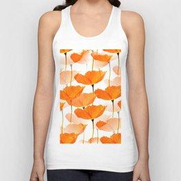 Orange Poppies On A White Background #decor #society6 #buyart Unisex Tank Top