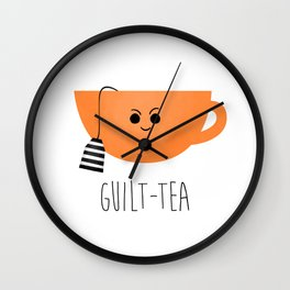 Guilt-tea Wall Clock