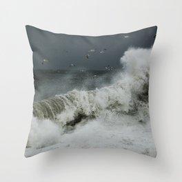 hokusai inspired Throw Pillow