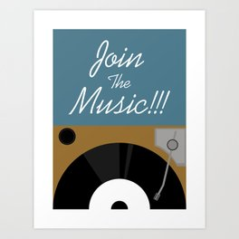 Join The Music Art Print